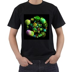 Abstract Balls Color About Men s T-Shirt (Black)