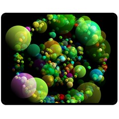 Abstract Balls Color About Fleece Blanket (Medium)