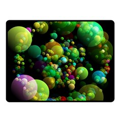 Abstract Balls Color About Fleece Blanket (Small)