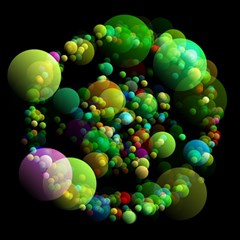 Abstract Balls Color About Magic Photo Cubes