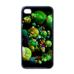 Abstract Balls Color About Apple iPhone 4 Case (Black)