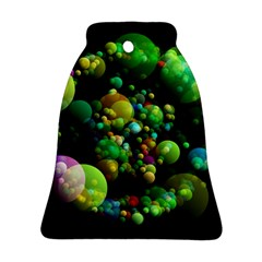 Abstract Balls Color About Bell Ornament (2 Sides)