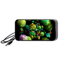 Abstract Balls Color About Portable Speaker (Black)