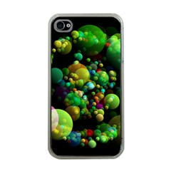 Abstract Balls Color About Apple iPhone 4 Case (Clear)