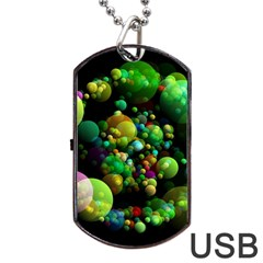Abstract Balls Color About Dog Tag USB Flash (One Side)