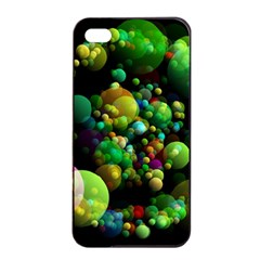 Abstract Balls Color About Apple iPhone 4/4s Seamless Case (Black)