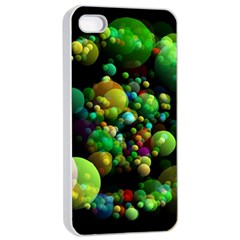 Abstract Balls Color About Apple iPhone 4/4s Seamless Case (White)