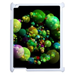 Abstract Balls Color About Apple iPad 2 Case (White)