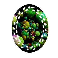 Abstract Balls Color About Oval Filigree Ornament (2-Side)
