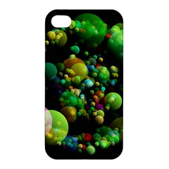 Abstract Balls Color About Apple iPhone 4/4S Premium Hardshell Case