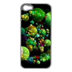 Abstract Balls Color About Apple iPhone 5 Case (Silver)