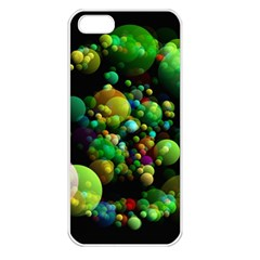 Abstract Balls Color About Apple iPhone 5 Seamless Case (White)