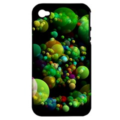 Abstract Balls Color About Apple iPhone 4/4S Hardshell Case (PC+Silicone)