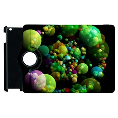 Abstract Balls Color About Apple iPad 2 Flip 360 Case