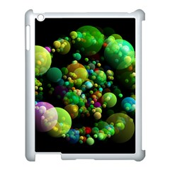 Abstract Balls Color About Apple iPad 3/4 Case (White)