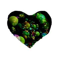 Abstract Balls Color About Standard 16  Premium Heart Shape Cushions
