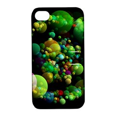 Abstract Balls Color About Apple iPhone 4/4S Hardshell Case with Stand
