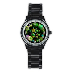 Abstract Balls Color About Stainless Steel Round Watch