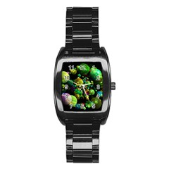 Abstract Balls Color About Stainless Steel Barrel Watch