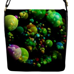 Abstract Balls Color About Flap Messenger Bag (S)