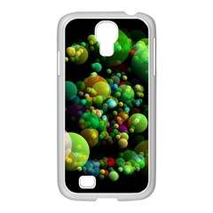 Abstract Balls Color About Samsung GALAXY S4 I9500/ I9505 Case (White)