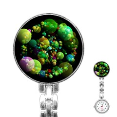 Abstract Balls Color About Stainless Steel Nurses Watch