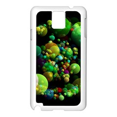Abstract Balls Color About Samsung Galaxy Note 3 N9005 Case (White)