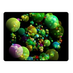 Abstract Balls Color About Double Sided Fleece Blanket (Small)