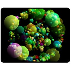 Abstract Balls Color About Double Sided Fleece Blanket (Medium)