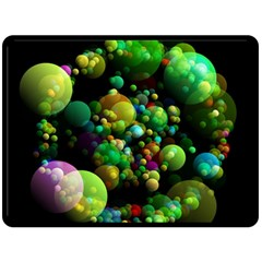 Abstract Balls Color About Double Sided Fleece Blanket (Large)
