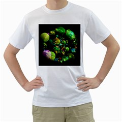 Abstract Balls Color About Men s T-Shirt (White)