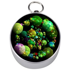 Abstract Balls Color About Silver Compasses