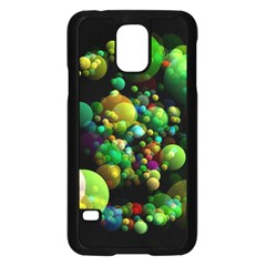 Abstract Balls Color About Samsung Galaxy S5 Case (Black)