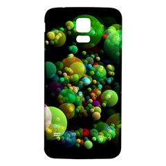 Abstract Balls Color About Samsung Galaxy S5 Back Case (White)