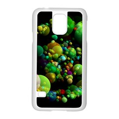 Abstract Balls Color About Samsung Galaxy S5 Case (White)