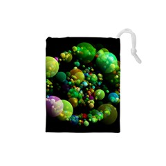 Abstract Balls Color About Drawstring Pouches (Small)