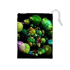 Abstract Balls Color About Drawstring Pouches (Medium)
