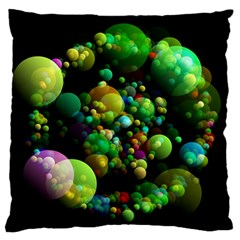 Abstract Balls Color About Large Flano Cushion Case (Two Sides)