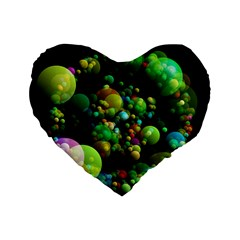 Abstract Balls Color About Standard 16  Premium Flano Heart Shape Cushions