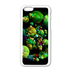 Abstract Balls Color About Apple iPhone 6/6S White Enamel Case