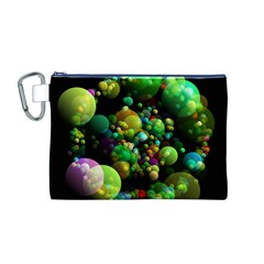 Abstract Balls Color About Canvas Cosmetic Bag (M)