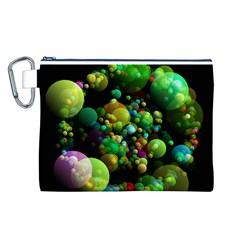Abstract Balls Color About Canvas Cosmetic Bag (L)
