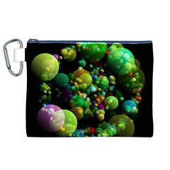 Abstract Balls Color About Canvas Cosmetic Bag (XL)