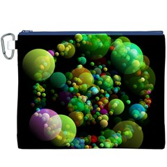 Abstract Balls Color About Canvas Cosmetic Bag (XXXL)