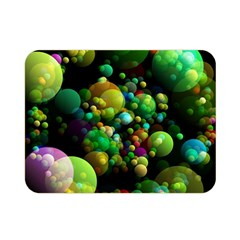 Abstract Balls Color About Double Sided Flano Blanket (Mini)
