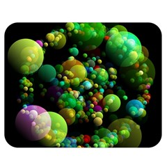 Abstract Balls Color About Double Sided Flano Blanket (Medium)