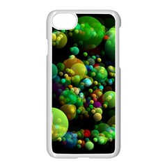 Abstract Balls Color About Apple iPhone 7 Seamless Case (White)
