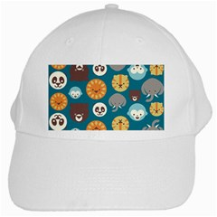 Animal Pattern White Cap