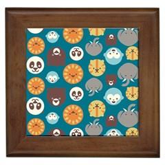 Animal Pattern Framed Tiles