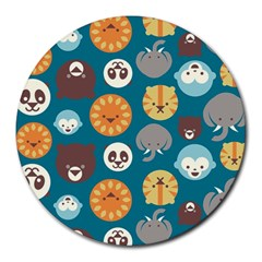 Animal Pattern Round Mousepads